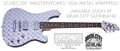 Schecter USA CUSTOM SHOP MASTERWORKS 006  Aluminum Diamond   Plate    6-String Electric Guitar