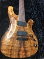USED Schecter USA Custom Shop Masterworks 007 Koa Top 2008  7-String Electric Guitar