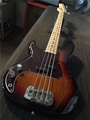 G&L USA SB-1 3-Tone Sunburst/Maple neck  Left Handed  4-String Electric Bass Guitar