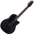 Ovation Elite Speciality 2058TX-5 Black, Textured: Deep  12--String Acoustic Electric Guitar