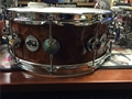 "DW Collectors Exotic Natural  Sapeli Pommele 5 1/2 x14""    Snare Drum"