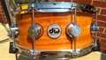 "DW Collectors Exotic Natural Fiddleback Eucalyptus  5 1/2 x14""    Snare Drum"