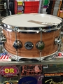 "DW Collectors Exotic Natural Fiddleback Eucalyptus  6 1/2 x14""    Snare Drum"