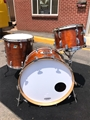 USED Ludwig USA '70's 3-Ply Maple Walnut finish 4-Piece Shell Kit