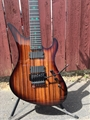 Schecter USA CUSTOM SHOP MASTERWORKS Avenger 7-FR Zebrawood w/ Pot Leaf Inlay 7-String Electric Guitar 2019