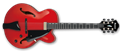 IBANEZ AFC151 Sunrise Red 6-String Electric Archtop Guitar
