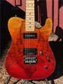 G&L USA CUSTOM SHOP ASAT Deluxe Fire Fade 6-String Electric Guitar 2019