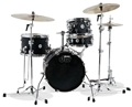DW Design Series  Maple Shell  Mini Pro Flat Black 4-Pc Shell Kit