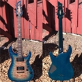 Schecter USA CUSTOM SHOP  Hollywood Classic Blue Crimson 6-String Electric Guitar