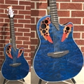 Ovation CE44P-8TQ  CELEBRITY Elite Plus Blue Quilt, 6-String Acoustic Electric Guitar