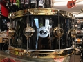 "DW Collectors  Black Nickel over Brass w/ Gold Hardware 6 1/2 x14"" Snare Drum"
