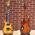 Schecter    DIAMOND SERIES PROTOTYPE  C-1 Custom Natural Vintage Burst  6-String Electric Guitar