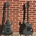 Schecter DIAMOND SERIES Blackjack SLS C-1FR Passive Satin Black    Left Handed  6-String Electric  Guitar