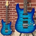 Schecter DIAMOND SERIES PROTOTYPE  CET HSS FR Aqua Burst 6-String Electric Guitar