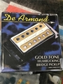 De Armond Gold Tone Bridge Humbucker Pickup