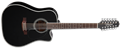 Takamine EF381SC Black 12-String Acoustic Electric Guitar