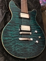 USED   ESP  USA CUSTOM Doublecut Trans Blue 6-String Electric Guitar