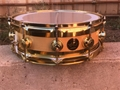 "USED DW USA Collectors Edge Flame Maple/Brass 5x14"" Snare Drum"