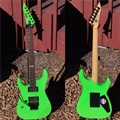 USED ESP Custom Ordered Standard Series M-II Neck Thru Flouresent Green Left Handed 6-String Electric Guitar