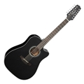 Takamine GD30CE-12 Black 12-String Acoustic Electric Guitar
