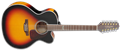 Takamine GJ72CE-12 Brown Sunburst  12-String Acoustic Electric Guitar