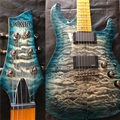 Schecter DIAMOND SERIES PROTOTYPE Hellraiser Bolt-on Trans Blue 6-String Electric Guitar