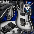 Schecter DIAMOND SERIES Jake Pitts C-1 FR Metallic White w/Metallic Black Burst   6-String Electric Guitar