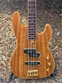 Schecter USA Custom Shop MICHAEL ANTHONY SIGNATURE Koa Top Gold/Brass 4-String Electric Bass Guitar 2019