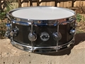 "DW Collectors  USA  KNURLED BLACK NICKEL OVER STEEL 5 1/2 x14""  Snare Drum"