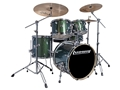 "Ludwig Element Evolution 5-piece Drum Set with Zildjian I Series Cymbals - 20"" - Emerald Green Sparkle"
