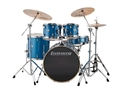 "Ludwig Element Evolution 5-piece Drum Set with Zildjian ZBT Cymbals - 22"" - Blue Sparkle"