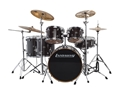 Ludwig Evolution Maple Transparent Black 6 pc Shell Pack LCEM622XTB