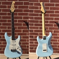 G&L USA Legacy Sonic Blue Bound Rosewood   6-String Electric Guitar 2018