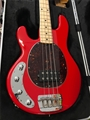 Ernie Ball/Music Man Stingray-4 Chili Red Maple   Shell pg Left Handed 4-String Electric Bass Guitar