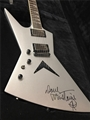 Dean Dave Mustaine Signature Zero  Metallic Silver HAND SIGNED    Left Handed  6-String Electric Guitar