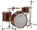 Ludwig USA 110th Anniversary Legacy Mahogany Van Buren   : LLC54433LXVBCX - Pro Beat 3-Piece Drum Set