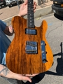G&L USA CUSTOM SHOP ASAT Classic Bluesboy Honey over  Black Limba Top  6-String Electric Guitar 2019