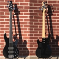 G&L USA M-2500 Jet Black  Fretless/Unlined 5-String Electric Bass Guitar