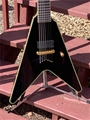 Schecter DIAMOND SERIES PROTOTYPE Chris Howorth V-7 Metallic Black 7-String Electric Guitar