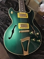 Schecter    DIAMOND SERIES PROTOTYPE Small Corsair Emerald Green w/ Gold hardware    6-String Electric Guitar 2017