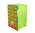 Tycoon Percussion TKXNG-29 Acrylic Neon Green Cajon Drum