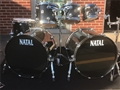 Natal Maple Black Metallic 6-Piece Double Bass Shell Pack