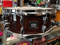 "USED YAMAHA OAK CUSTOM Brown Lacquer  5 1/2 x14""   Snare Drum"