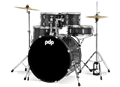 PDP - Center Stage - Silver Sparkle – 5-Piece Complete Kit #PDCE2015KTDW