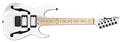 IBANEZ  Paul Gilbert Signature PGMM31 White Mikro Short Scale   6-String Electric Guitar