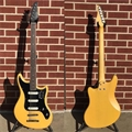 "Schecter    DIAMOND SERIES PROTOTYPE Hellcat VI 30"" Baritone  TV Yellow Pearl    6-String Electric Guitar"