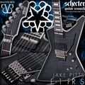 Schecter DIAMOND SERIES Artist Model  Jake Pitts  E-1FR/S Trans Black Burst 6-String Electric Guitar