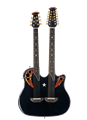 Ovation RSE225-5 Richie Sambora Signature Elite Gloss Black Double Neck Acoustic Electric Guitar
