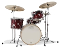 DW Design Series Maple Shell Frequent Flyer Cherry Lacquer 4-Pc Shell Kit