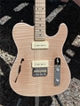 G&L USA CUSTOM SHOP ASAT Deluxe Semi-Hollow Natural Flame Top 6-String Electric Guitar 2019